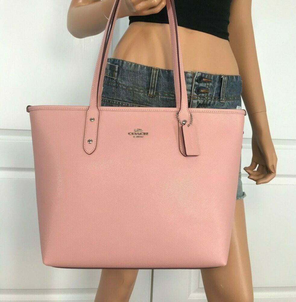 Coach F58846 City Zip Tote Handbag Bag Purse Leather New Petal Pink 298 Leather Handbags Tote Purses And Bags Tote Handbags