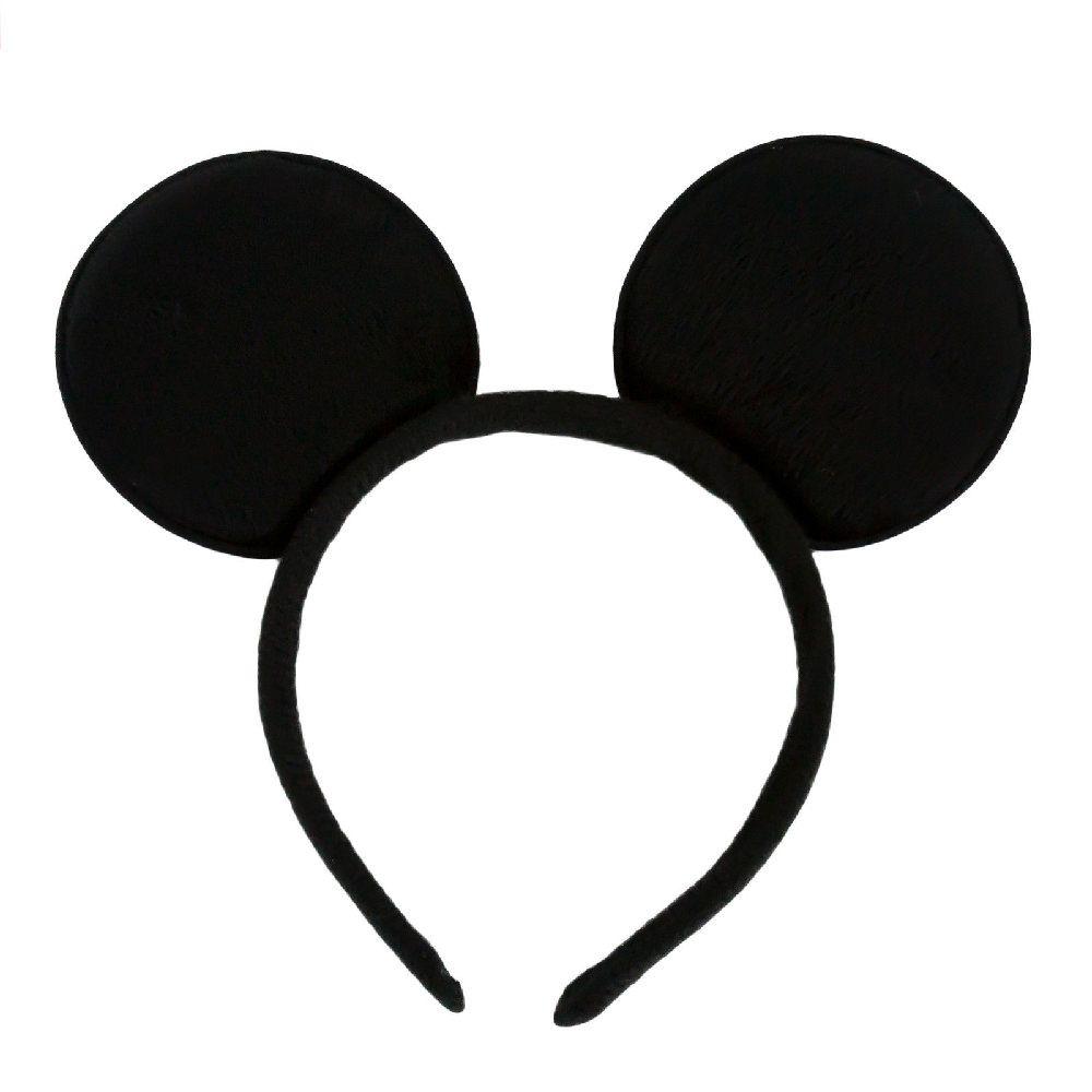 Haarreif Haarreifen Maus Mouse Ohren Fasching Karneval Schwarz