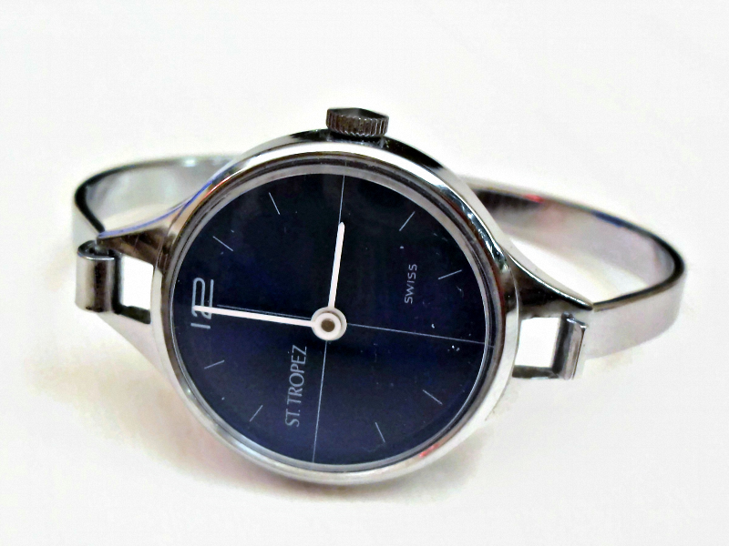Uhr Modern spangenuhr blue swiss made 70er vintage uhr modern mont klamott