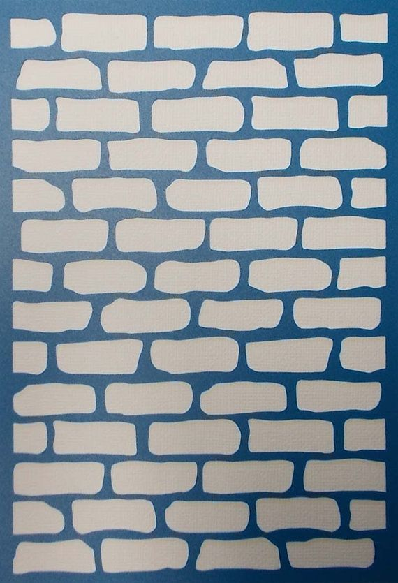 Brick wall background stencil fondo de pared de ladrillo - Paredes de ladrillo ...