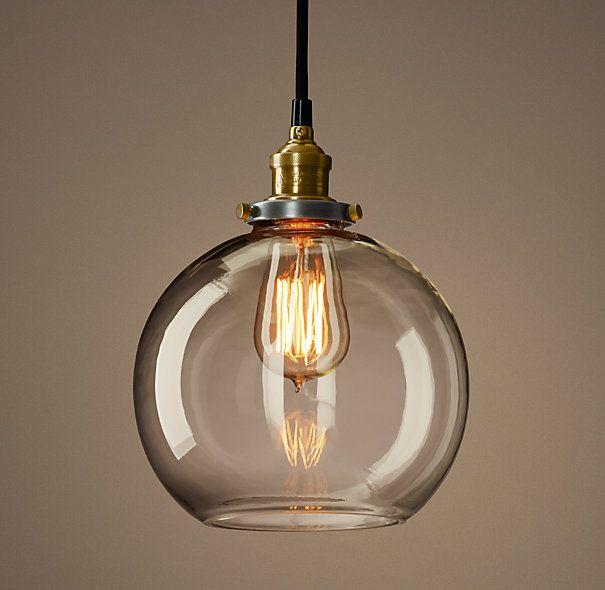Restoration Hardware Pendant Light Glass Ball Pendant Lighting