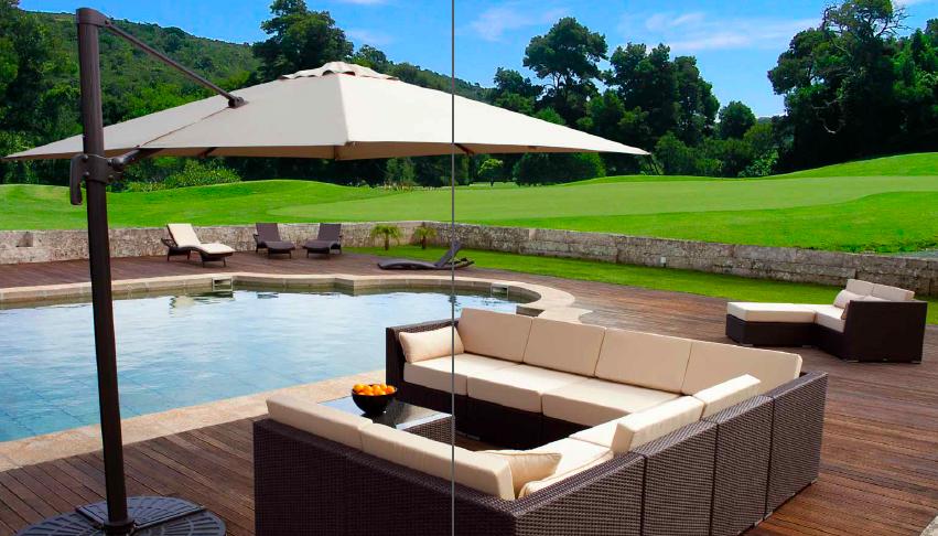 Exterior piscina terraza moderno paisajismo via for Muebles terraza exterior
