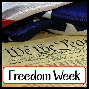 Freedom Week Constitution Day Social Studies Elementary 7th Grade Social Studies Social Studies