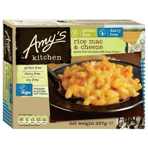Amy S Kitchen Rice Mac Cheese Non Dairy 227g By Amy S Kitchen Dairy Free Mac And Cheese Food Gluten Free Recipes For Dinner