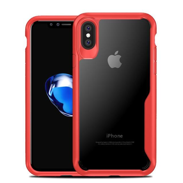 e4a406c99 Luxury Silicone TPU Frame Acrylic Transparent Back Shockproof Cover Case  for iPhone X *25% OFF*