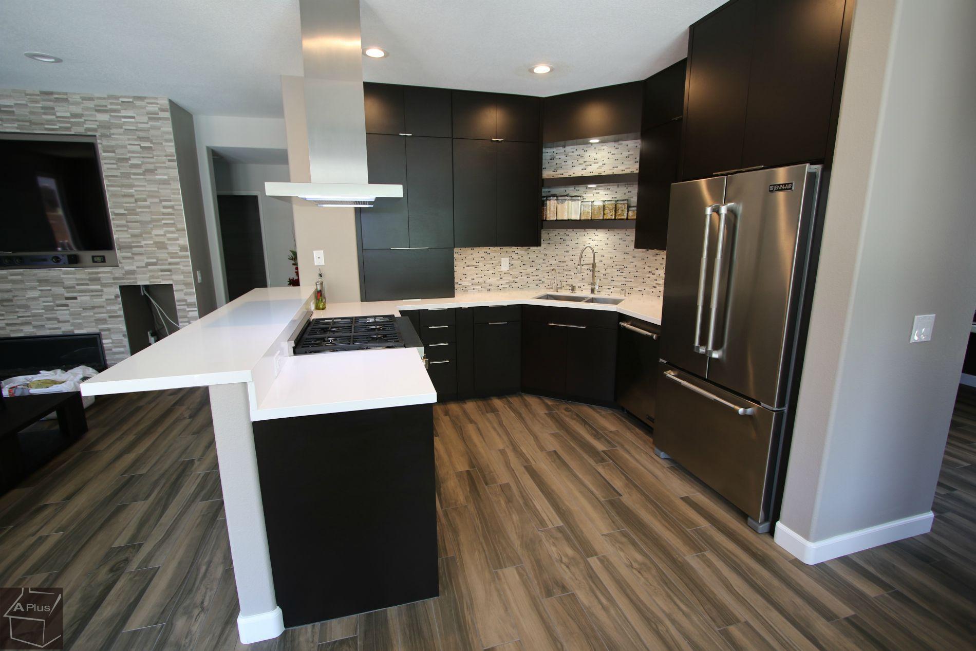 Design Build Modern Kitchen Remodel with APlus Sophia Line ...