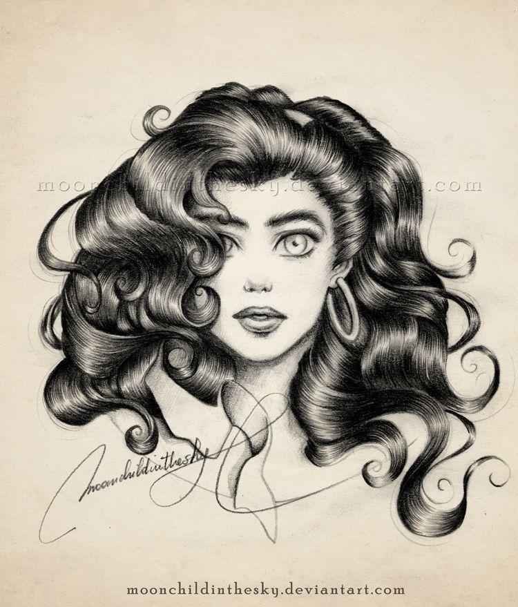 How to Draw Esmeralda, Step by Step, Disney Princesses, Cartoons ...
