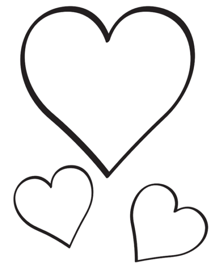 Corazones Para Colorear E Imprimir 011 1 Heart Graphics My Scrapbook Coloring Pages