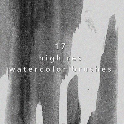 17 Creative High Resolution Watercolor Brushes For Personal