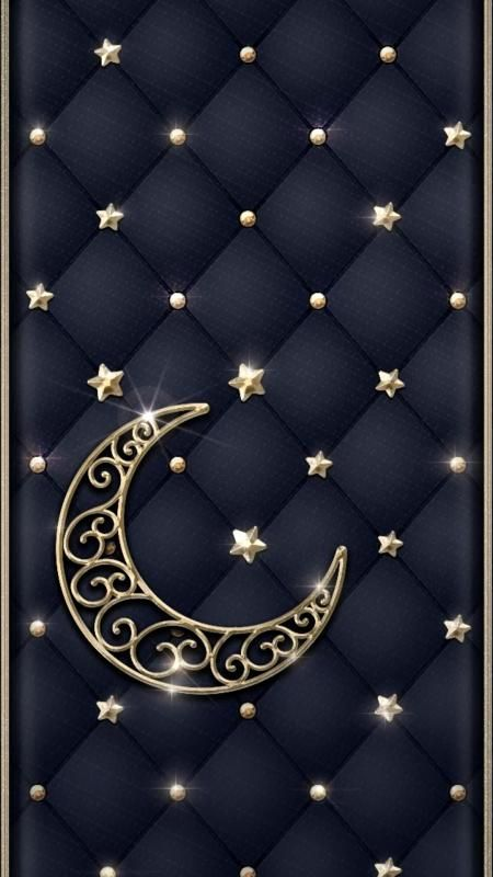 Free Golden Stars and Moon Wallpaper - Free Wallpapers - Tones7