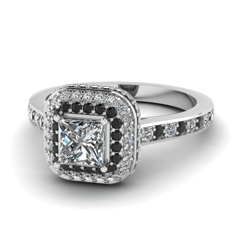 Engagement rings with black diamond accents ring pinterest