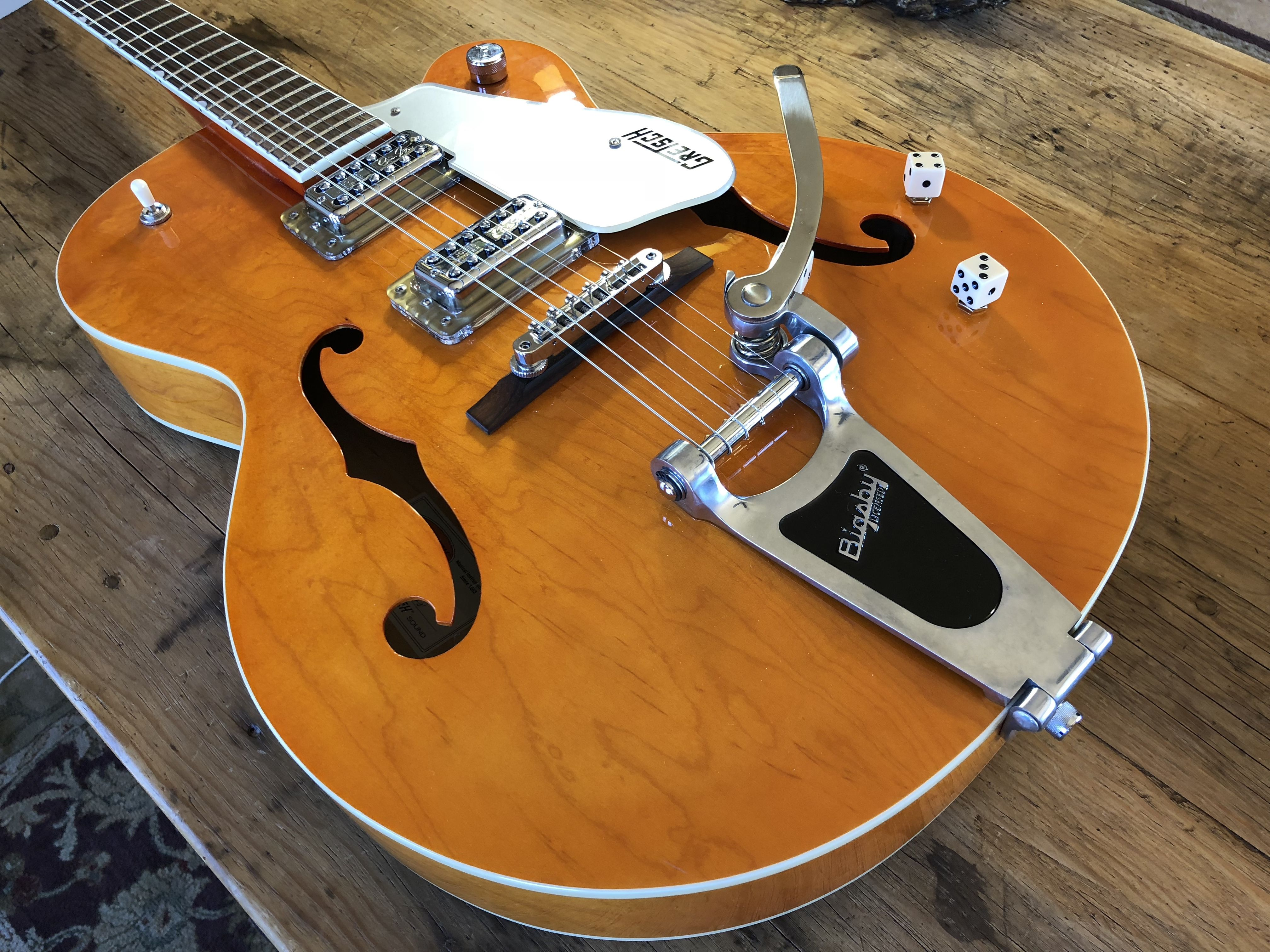 Outstanding My Gretch G5120 Which I Modified With Tv Jones Brian Setzer Wiring Cloud Hisonuggs Outletorg
