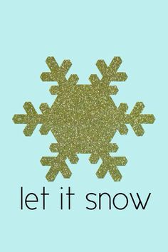 Let It Snow IPhone Wallpaper