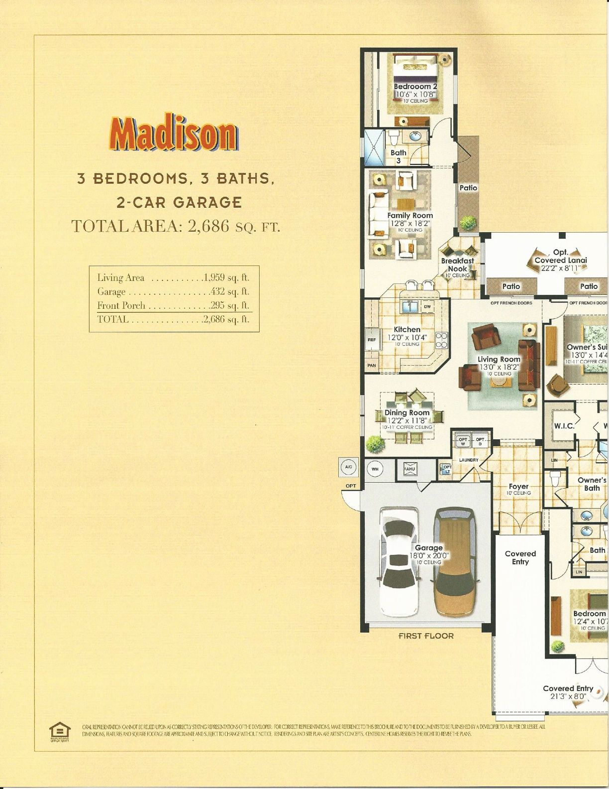 summerlake center line homes tahoe collection madison floor plan