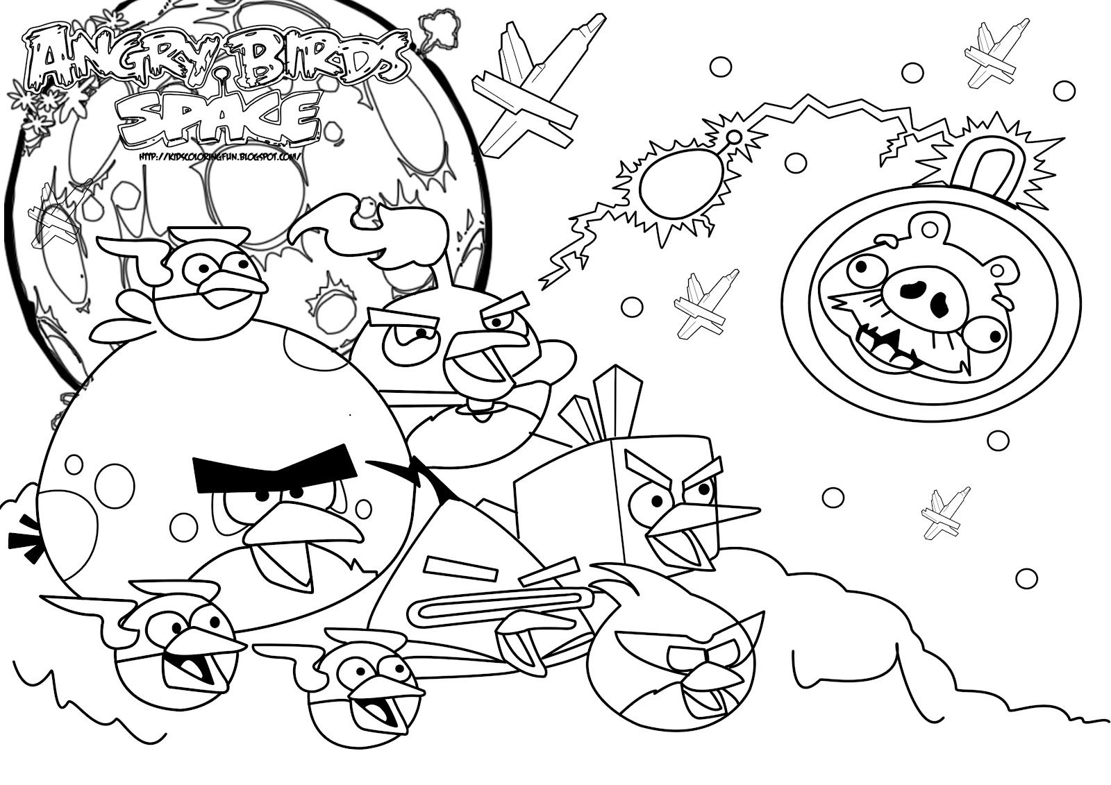 Free Angry Birds Space Coloring Pages Bird Coloring Pages Space