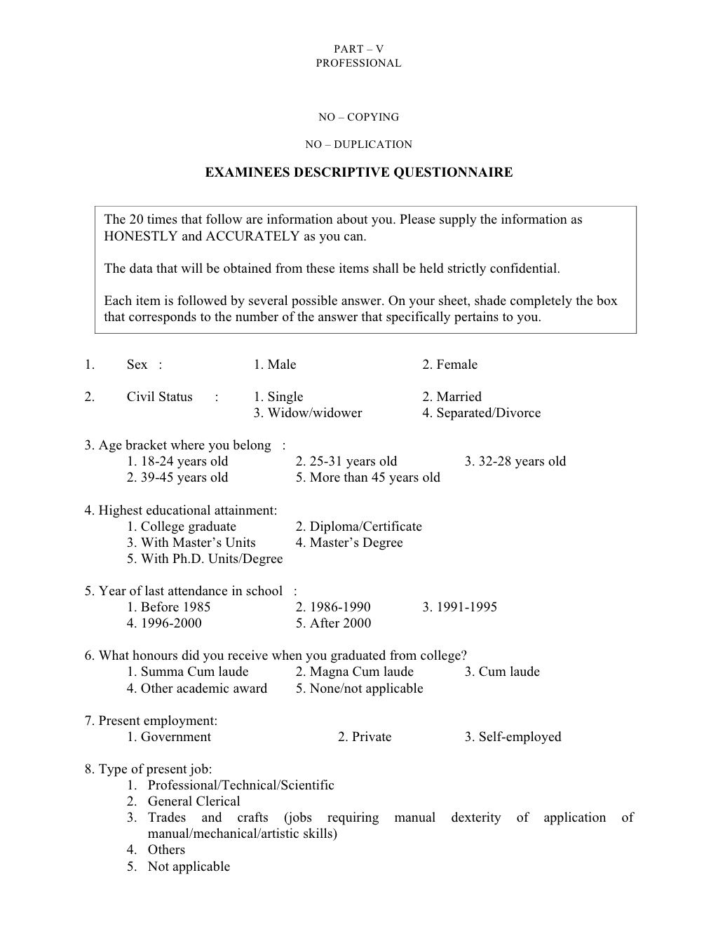 Philippines Civilserviceprofessionalreviewer By Marco Med