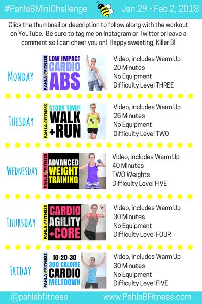 Boszorkanykonyha Pahla B Mini Challenge 5 6 Het 5 Day Workout Plan Workout Plan 5 Day Workouts