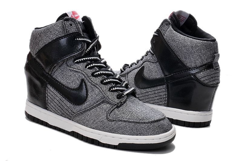 6ee2f0e81f31 Free Shipping Only 69  644410-001 Nike Dunk Sky High Womens Denim Black and  Dusty Grey White