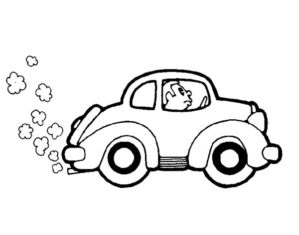 Driving Car Full Of Smoke Coloring Pages Best Place To Color Coloring Pictures For Kids Coloring Pages Cars Coloring Pages