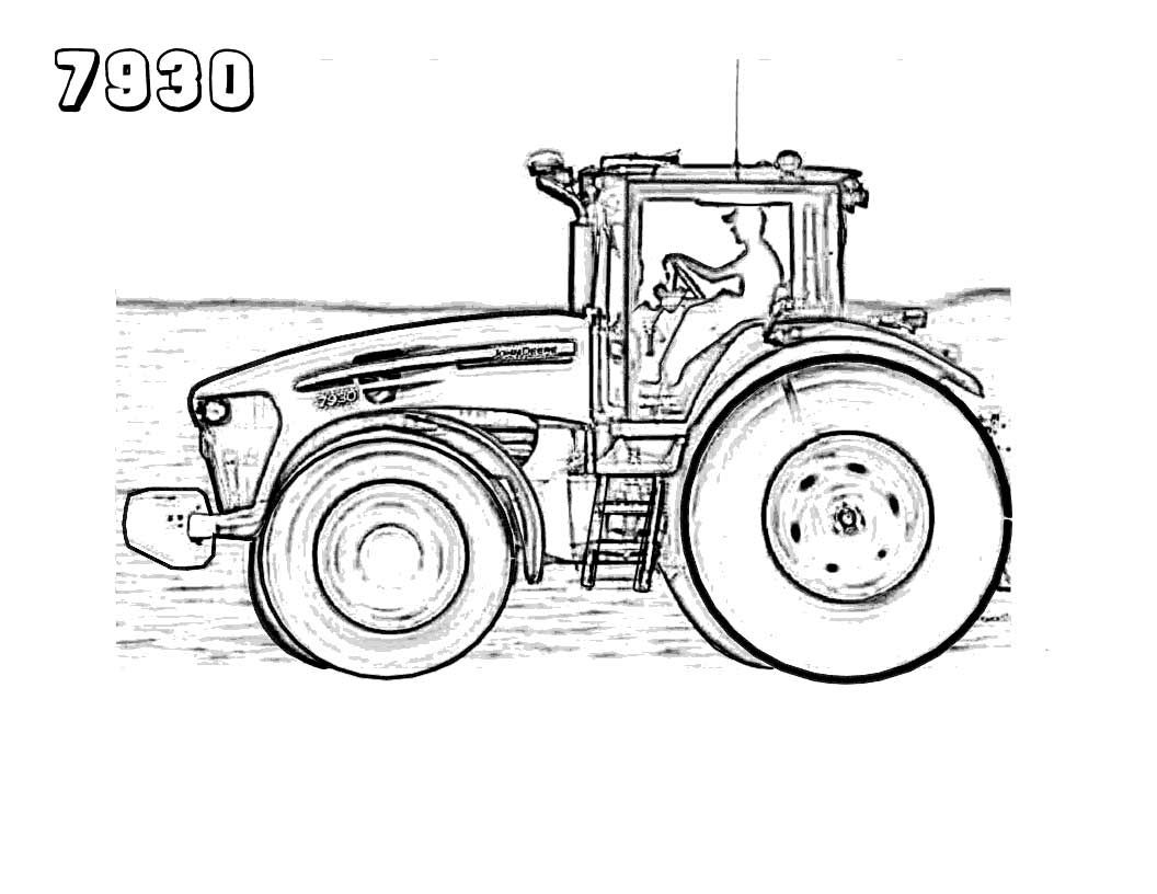 25 Best Tractor Coloring Pages To Print Tractor coloring