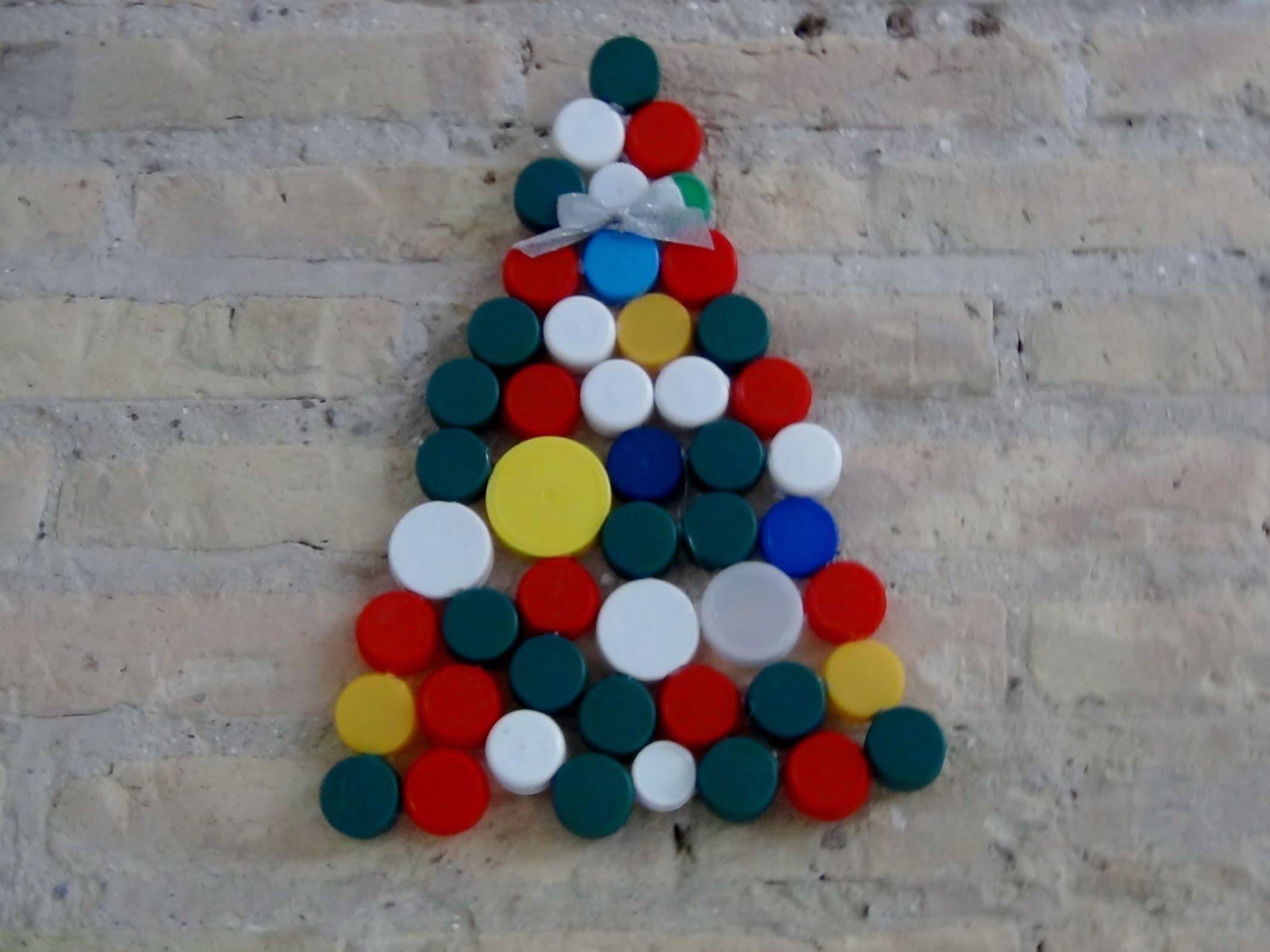 C Mo Hacer Un Rbol De Navidad Con Tapones De Pl Stico Reciclados  ~ Crismas De Navidad Hechos Por  Ninos