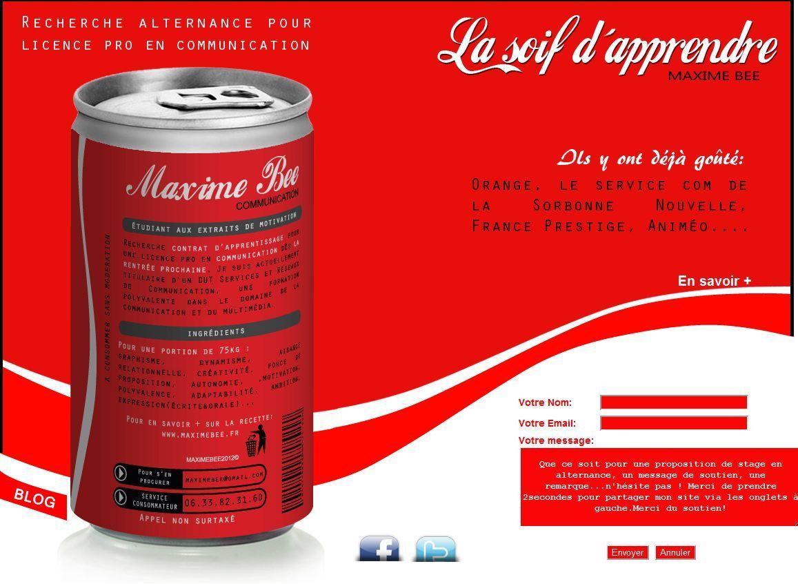 Maxime Bee Resume Modele De Cv Original Cv Original Lettre De Motivation Job Etudiant