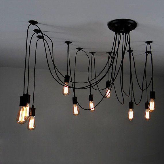 Edison-Lampe Deckenlampe Hängende Lampe von LightwithShade - moderne wohnzimmer deckenlampen