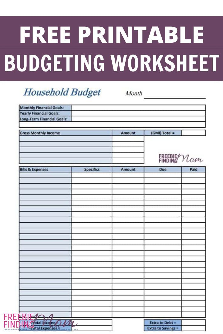 Free Printable Budget Worksheets Freebie Finding Mom Budgeting Worksheets Printable Budget Worksheet Budget Printables