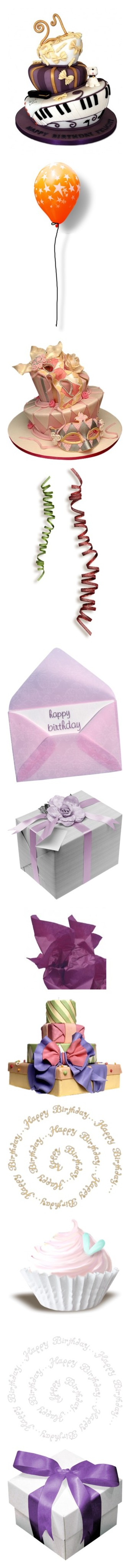 """Birthday & Celebrations 2"" by incogneato ❤ liked on Polyvore featuring food, cake, fillers, balloons, ribbons, bows, ribbons & bows, ribbons and bows, birthday and filler"