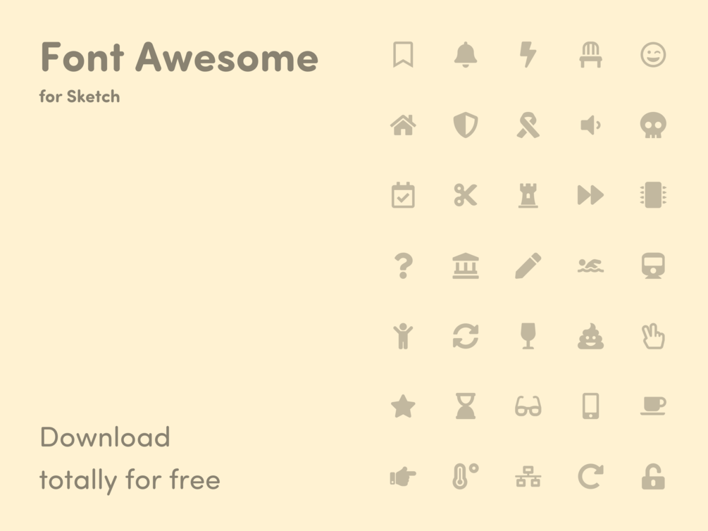 Font Awesome Library For Sketch Sketches Fonts Google Material