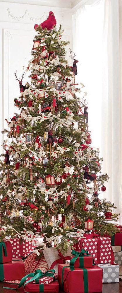Nostalgic Christmas Tree Farmhousechristmas Rusticchristmas Christmas Tree Decorating Themes Easy Christmas Tree Decorations Rustic Christmas Tree