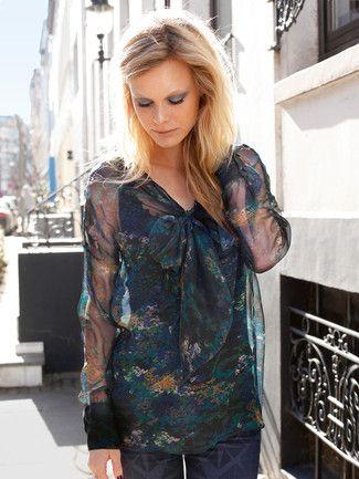 burda style, Schnittmuster - Transparente Bluse mit angeschnittenen ...