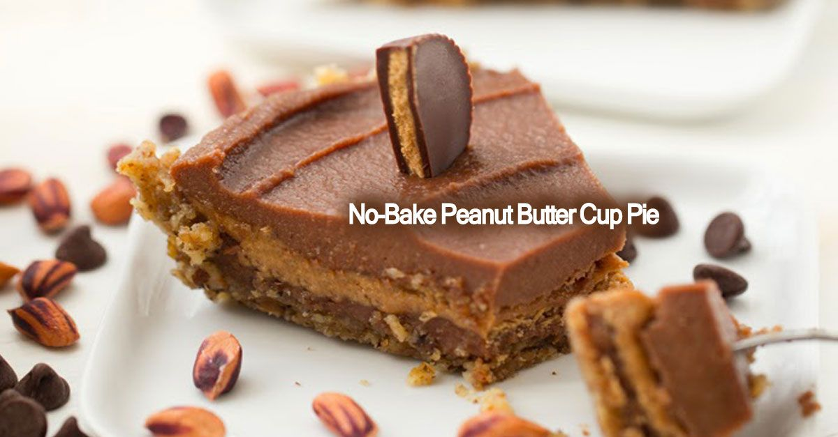 This easy vegan recipe doesn't even require baking. If you like peanut butter cups and you like pie then you will love this creation!