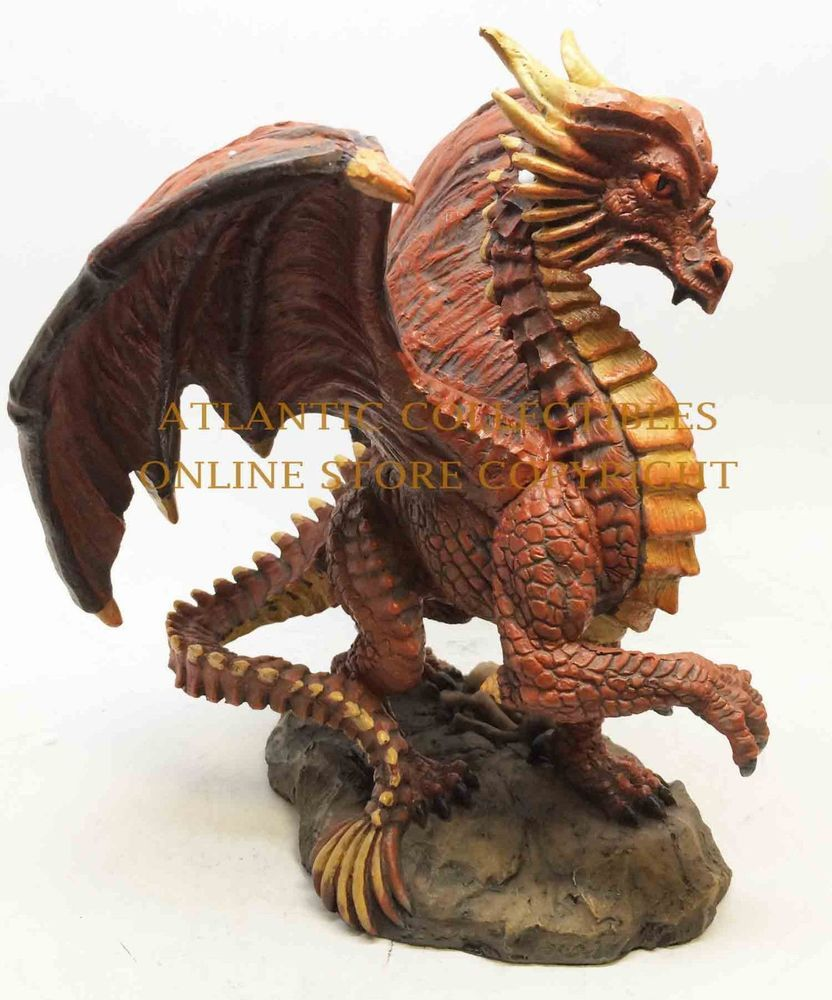Red Fire Elemental Dragon Figurine Standing Mighty Sculpture Decor  Tall Offered By Superiordecors On Ebay