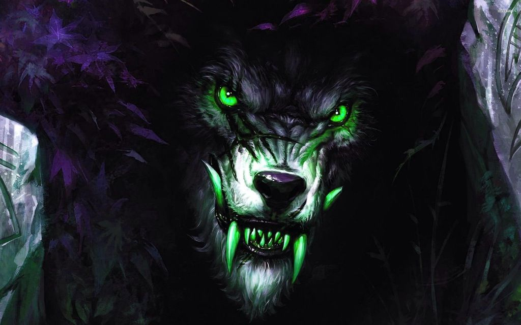 Evil Wolf Angry wallpapers, Demon wolf, Werewolf