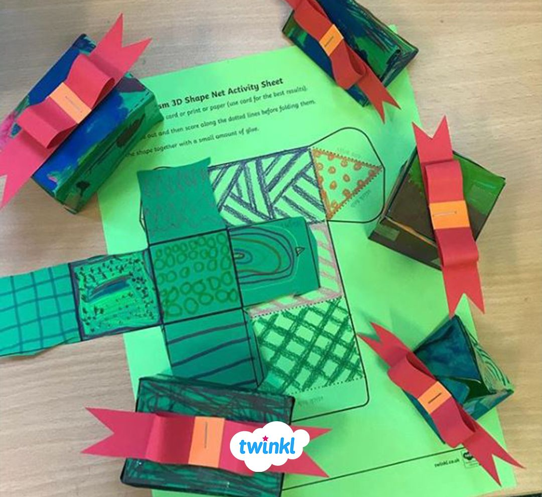 Festive 3d Shapes Activity Review 3d Shapes And Make Them