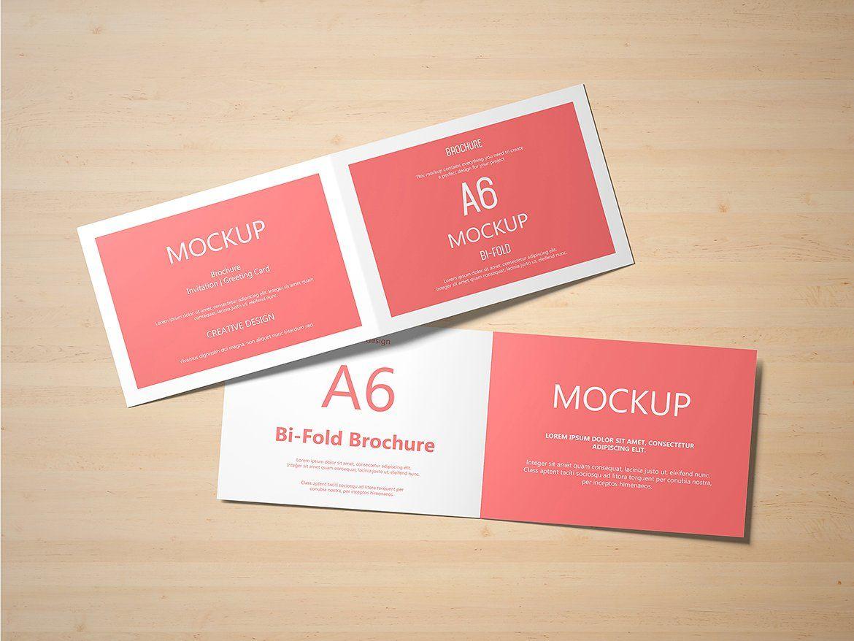 A6 Landscape Greeting Card Mockup Fully Set Layered Files