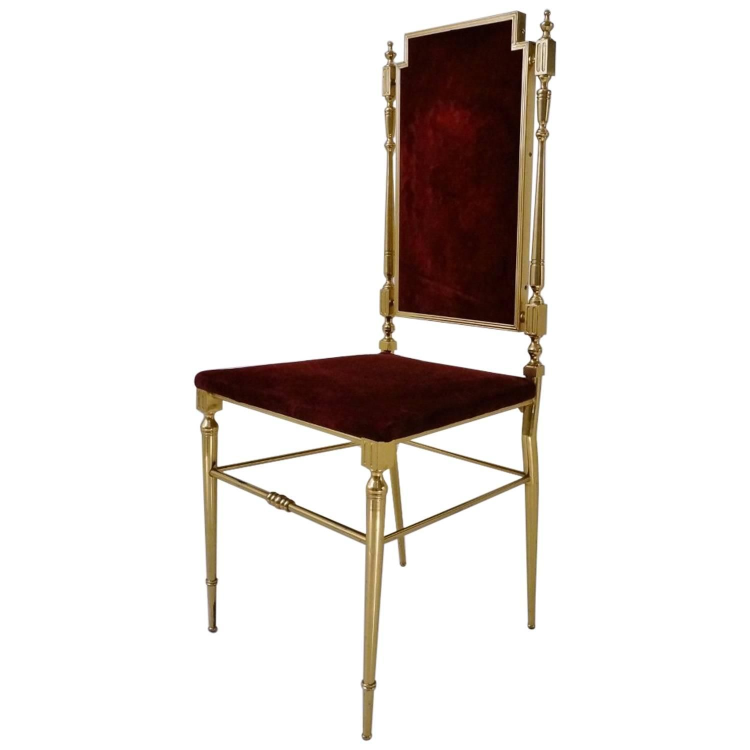 Neoclassical Brass Chair French circa 1950s