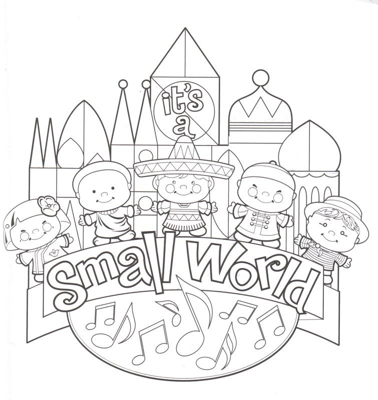 Its A Small World Clip Art Fantasyland It S A Small Disney