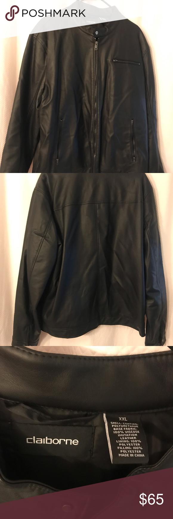 Liz Claiborne Men S Vegan Leather Jacket Leather Jacket Vegan Leather Jacket Vegan Leather