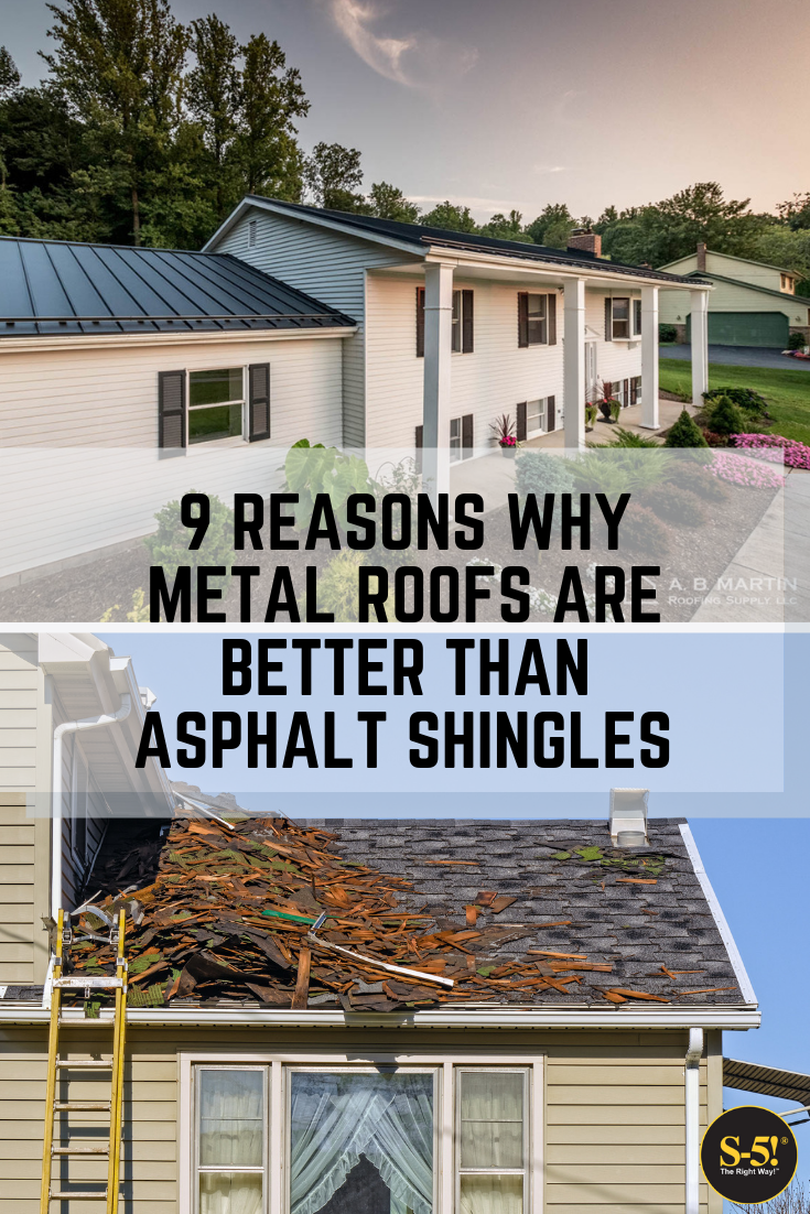 9 Reasons Metal Roofs Are Better Than Asphalt Shingles Metal Roof Metal Roof Cost Metal Roof Installation
