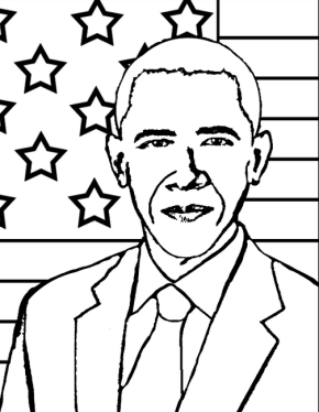 Nice Coloring Pages Of Presidents 11 obama coloring book Google