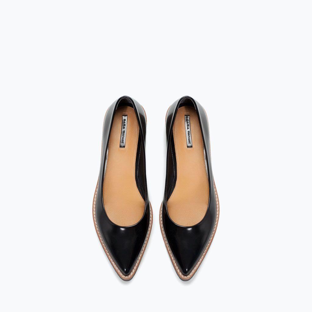 Image 4 de BALLERINES SEMELLES À RELIEF de Zara