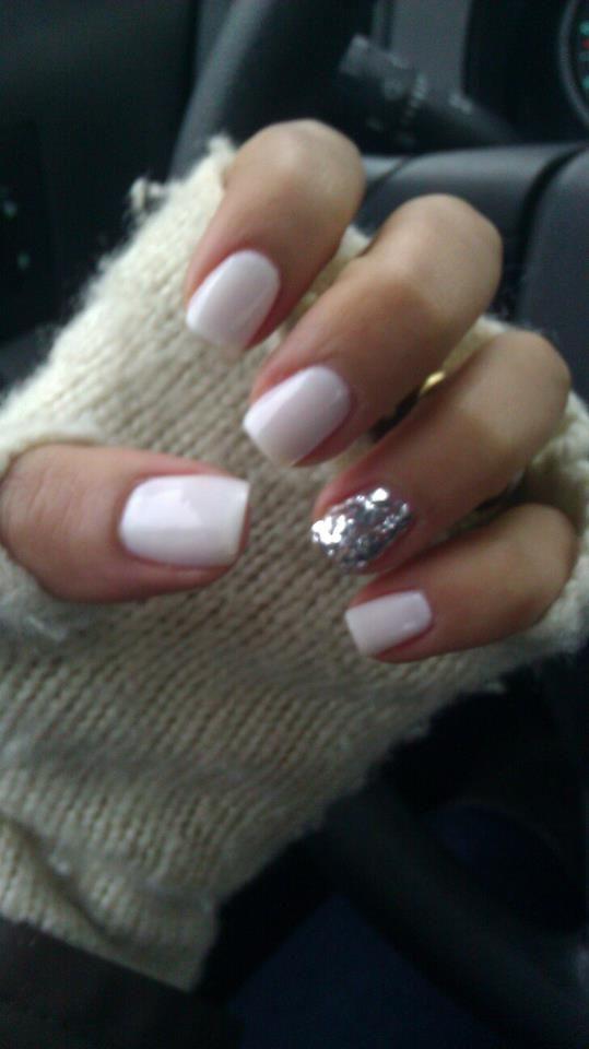 My favorite winter manicure. Essie Marshmallow and Milani Jewel FX ...