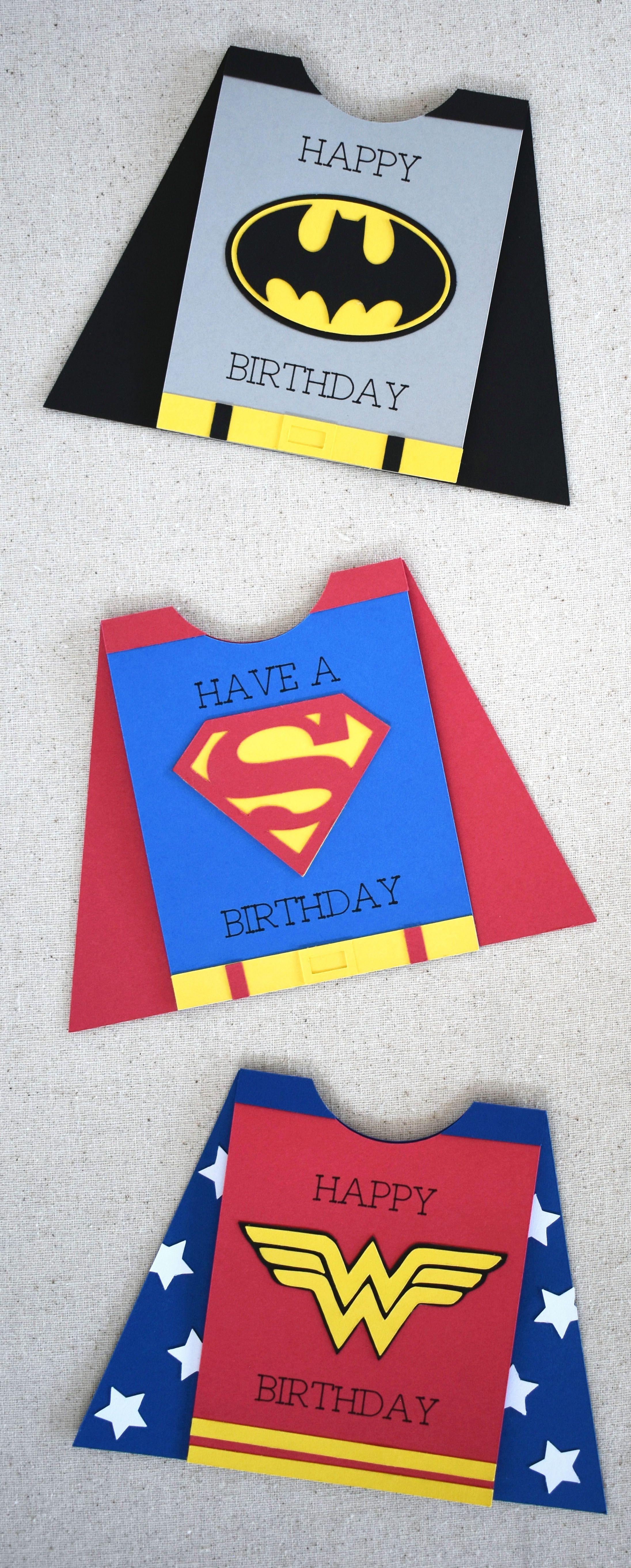 Superhero Card With Cricut Cricut Birthday Cards Creative Birthday Cards Diy Superhero Cape