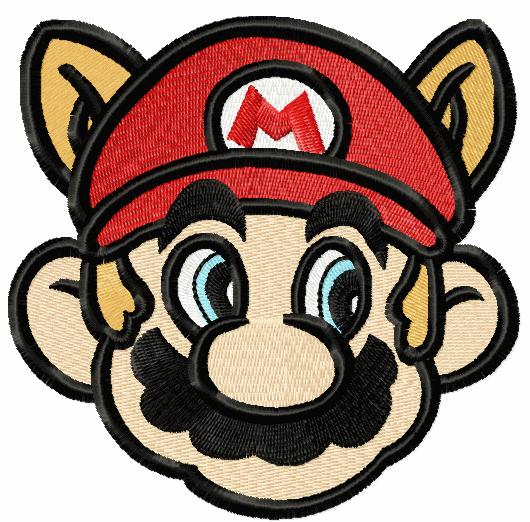 Super Mario Raccoon Face Embroidery Design Embroidery Designs Bernina Embroidery Machine Embroidery