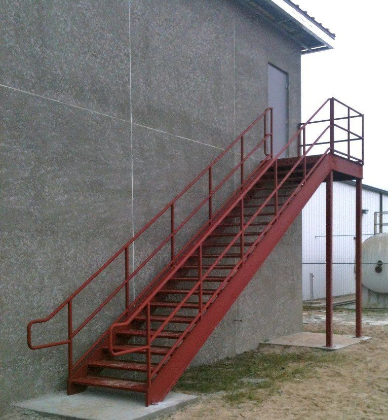 Stringers Of Stair Utility Stairs Are Usually Constructed Of Channel  Sections With The Flanges Turned Away