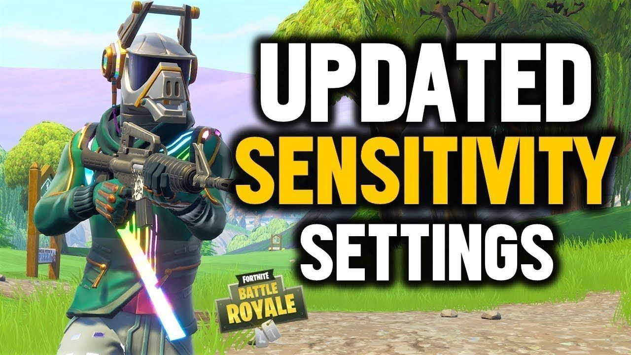 FORTNITE BEST SENSITIVITY SETTINGS (PS4 XBOX FORTNITE BATTLE ROYALE