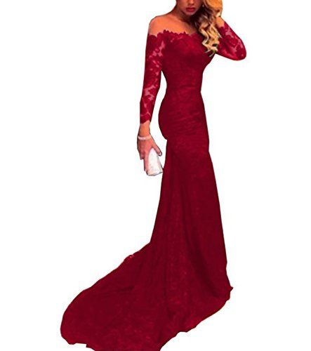 Fated Wedding Off Shoulder Mermaid Prom Dress Lace Long