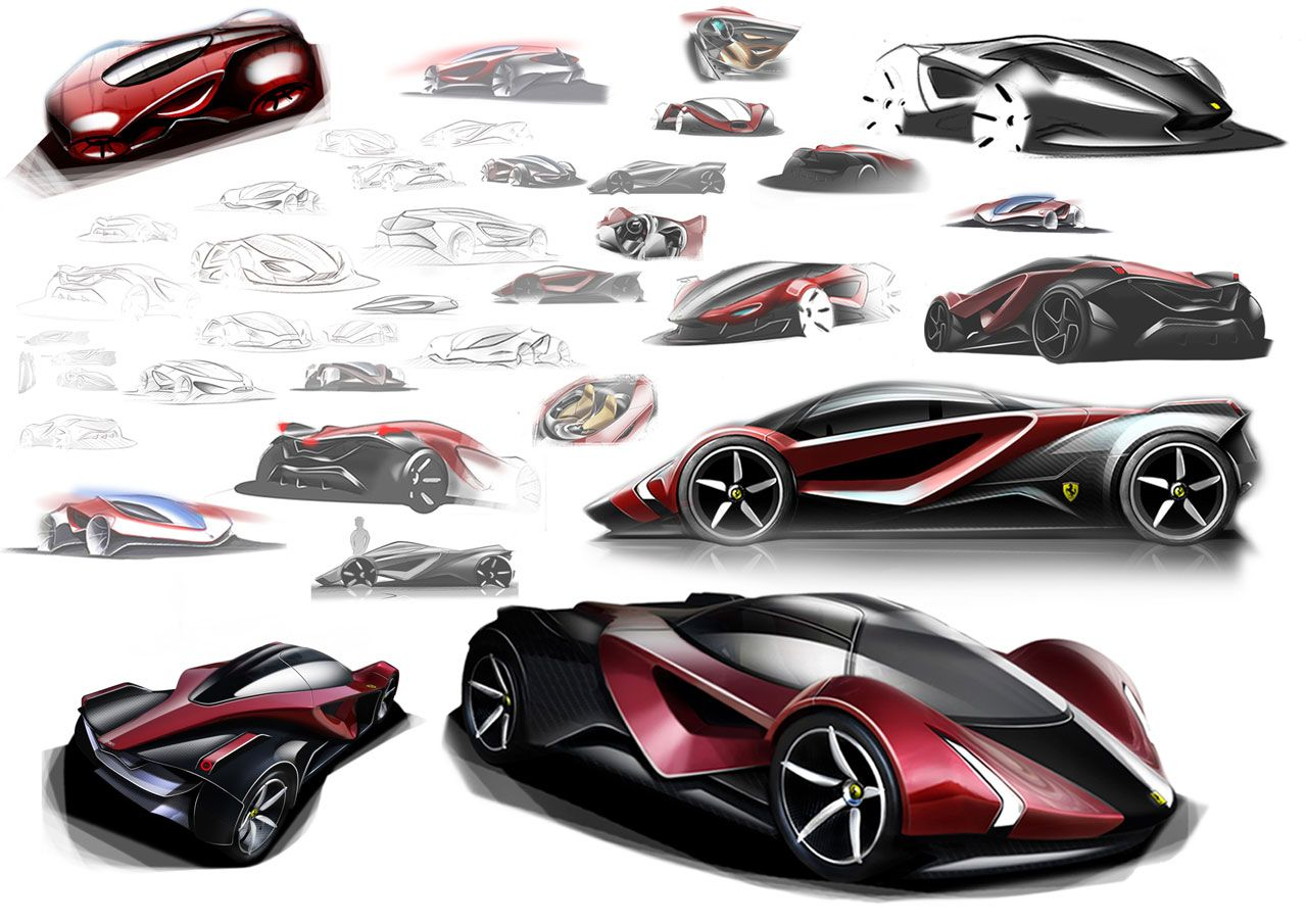 Design car contest - Ferrari Concept Drawing Don T Really Like The Design But It Is Interesting To See The Idea Develop